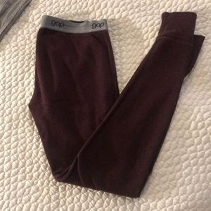 Maroon gap sweater leggings